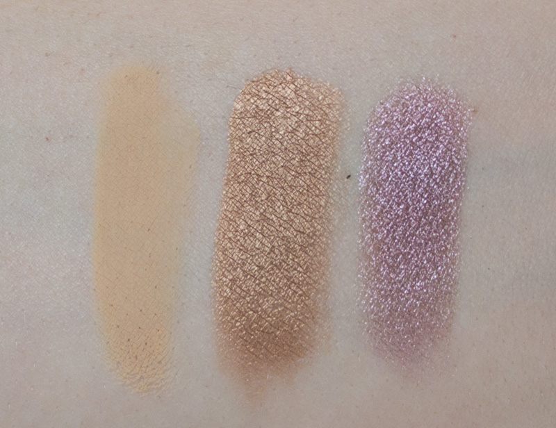Mac Paint Pot in Soft Ochre, Mac Paint Pot in Indianwood, Mac Extra Dimension Eyeshadow in Smoky Mauve,